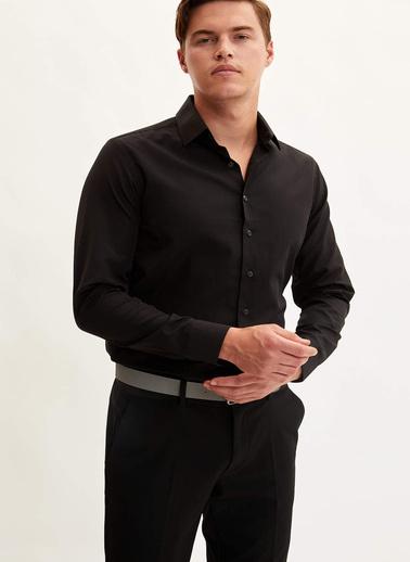 DeFacto Slim Fit Gömlek Siyah